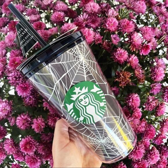 Starbucks NWT Spider Web Glow Dark Tumbler Cup